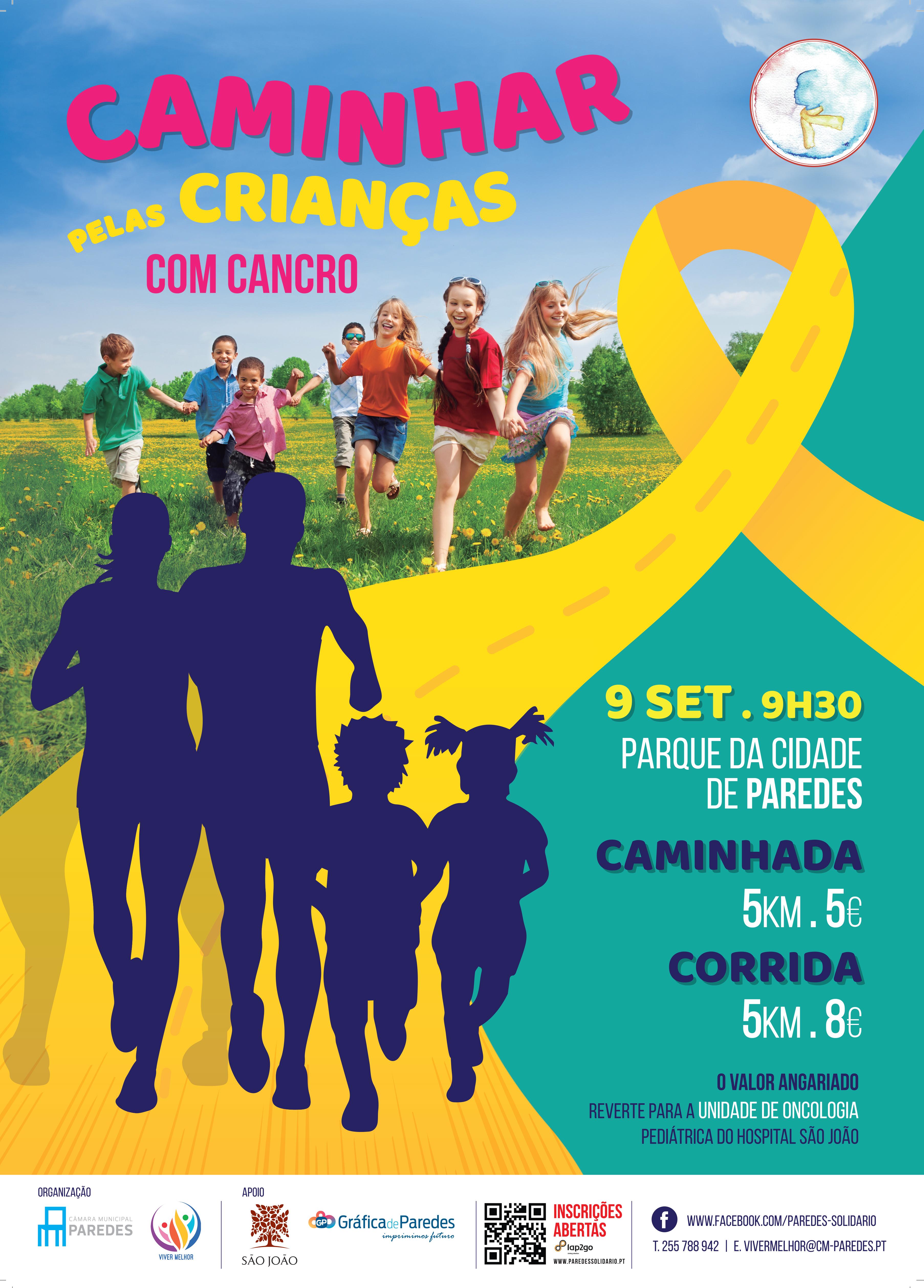 Caminhada pelas crianças com cancro  caaa3c4ccd761